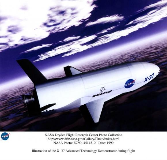X-37b spaceplane concept art